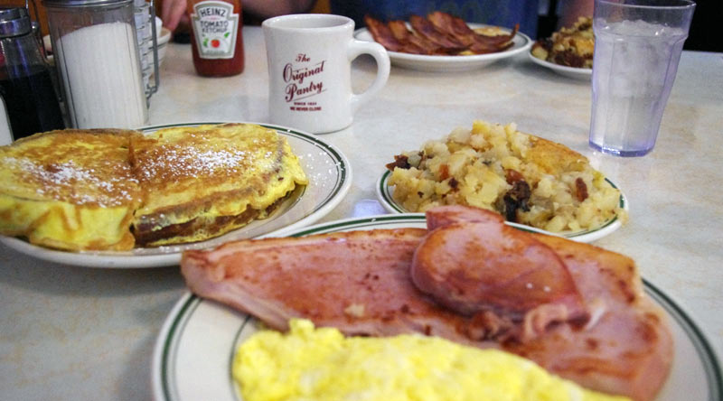The Pantry: Ham And Eggs. The Original Pantry Cafe