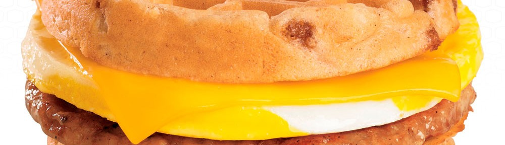 New Breakfast Waffle Sandwich At Jack in the Box