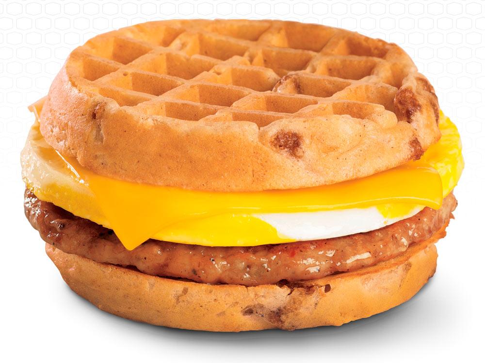 Waffle Breakfast Sandwich Fast Food