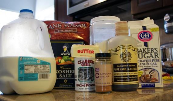 Ingredients For Cinnamon Flop Coffee Cake