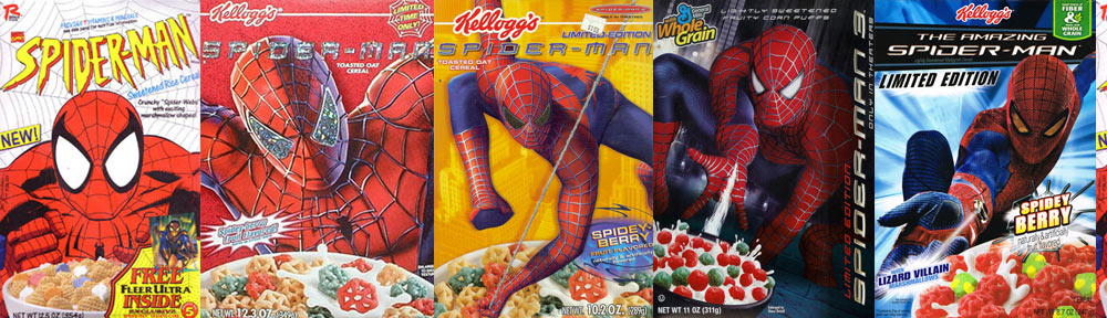Spider-Man Breakfast Cereals