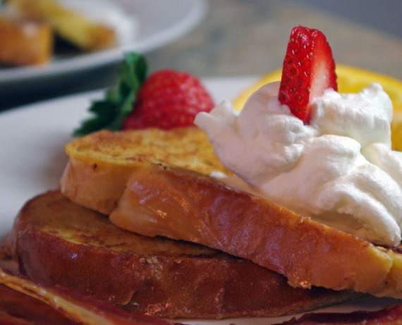 French Toast With Homemade Whipped Cream