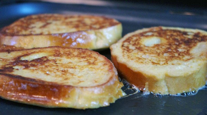 Frying french toast 2