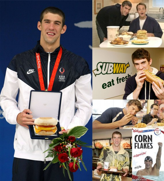 Michael Phelps: Big Eater