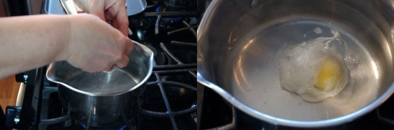Crack Eggs Into Simmering Water