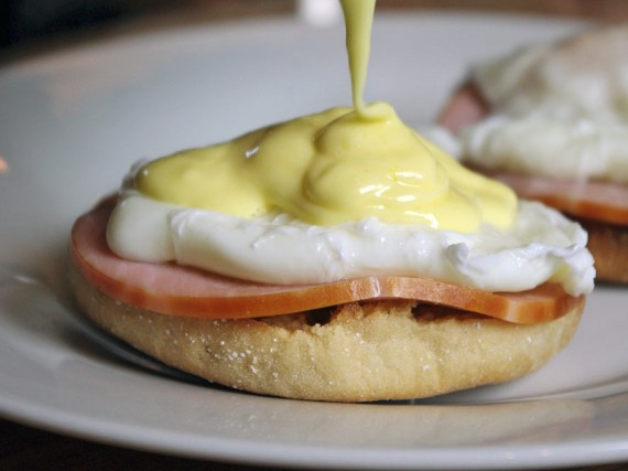 Pour A Generous Amount Of Hollandaise Sauce On Top