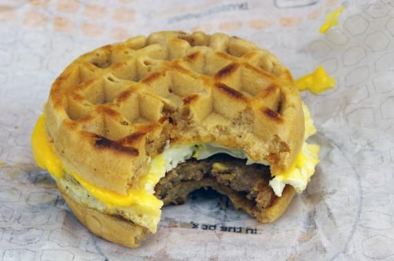 My Breakfast Waffle Sandwich From Jack in the Box