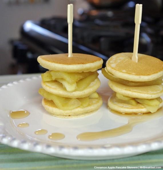 Cinnamon Apple Pancake Skewers