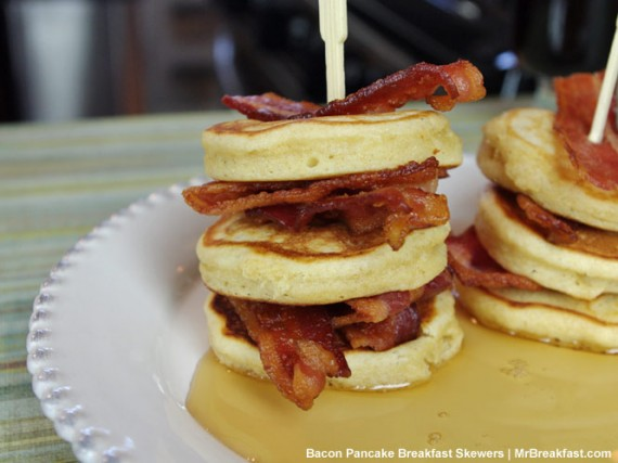 Bacon Pancake Breakfast Skewers