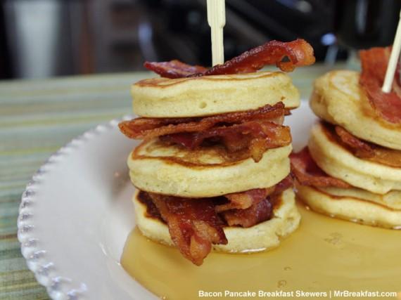 Bacon Pancake Breakfast Skewers