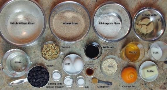 Classic Bran Muffin Ingredients