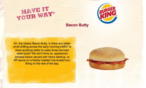 Burger King Bacon Butty