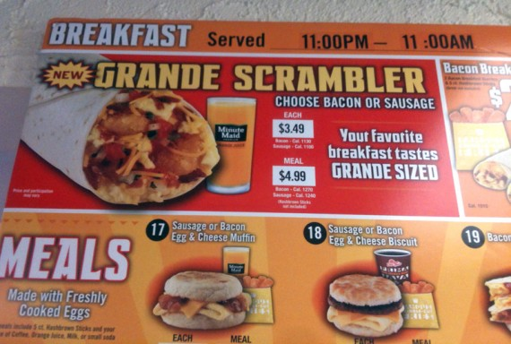 New Grande Scrambler On Del Taco's Menu