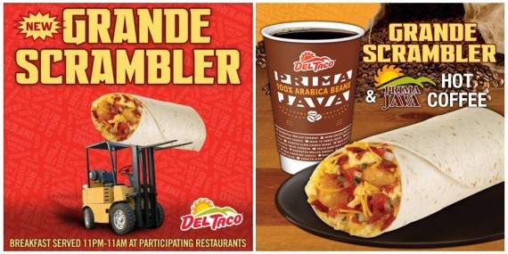 Ads for Del Taco's New Grande Scrambler