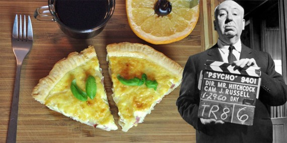 Making Quiche Lorraine With Alfred Hitchcock
