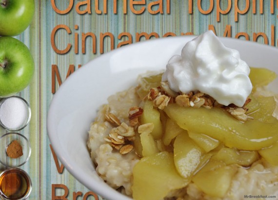 Oatmeal With Microwave Apple Topping