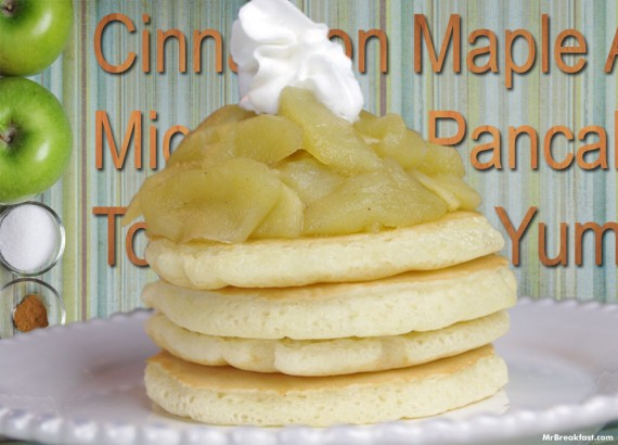 Pancakes With Microwave Apple Topping