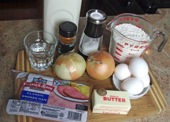 Ingredients For Alfred Hitchcock's Quiche Lorraine