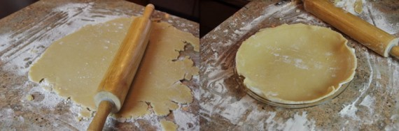 Making The Crust For The Quiche