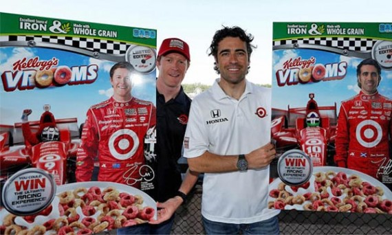 Scott Dixon and Dario Franchitti With Their Boxes Of Vrooms