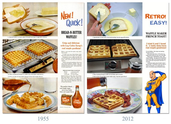 Waffle Maker French Toast - 1955 & Today