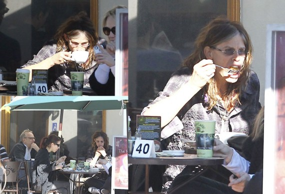 Steven Tyler (Aerosmith) Eating Breakfast