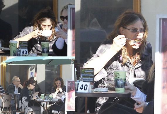 Steven Tyler (Aerosmith) Eating Breakfast