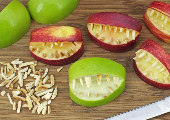 Apple Teeth w/ Toasted Almonds