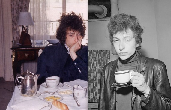 Bob Dylan Eating Breakfast