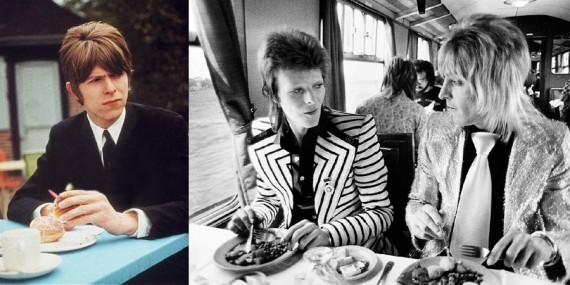 David Bowie Eating Breakfast