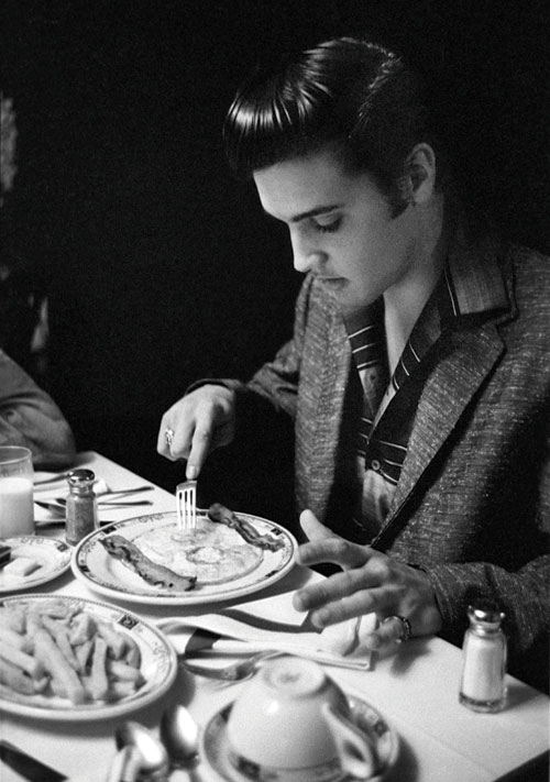 Elvis Eating Breakfast 1956
