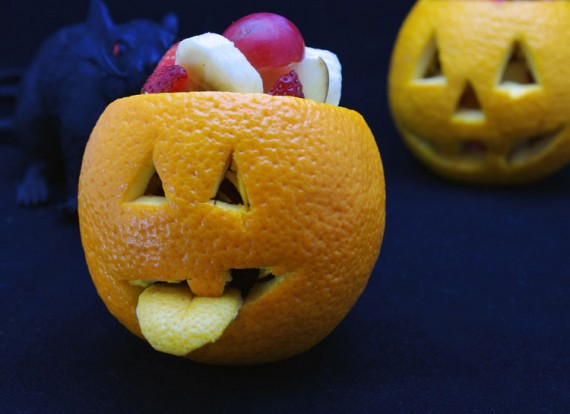 Jack O' Lantern Fruit Cups