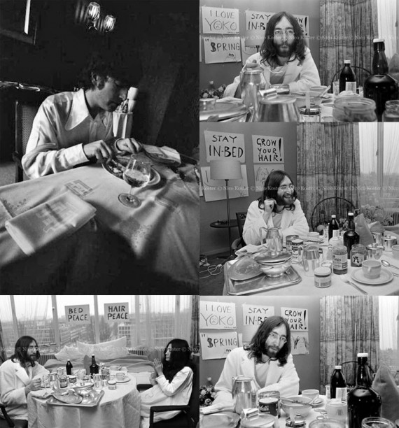 John Lennon Eating Breakfast