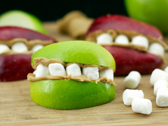 Marshmallow Apple Teeth