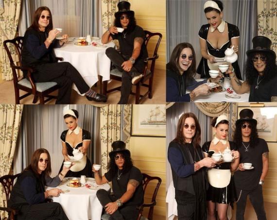 Ozzy And Slash Take Tea