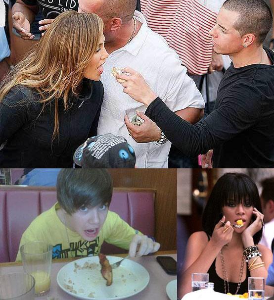 Pop Stars Eat Breakfast