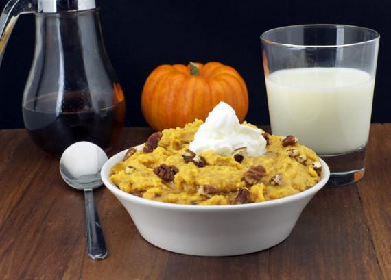 Pumpkin Pie Breakfast Polenta