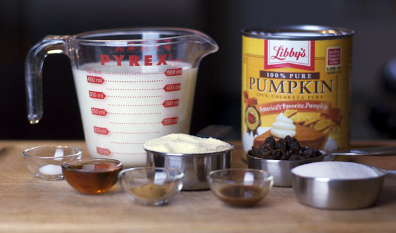 Pumpkin Polenta Ingredients