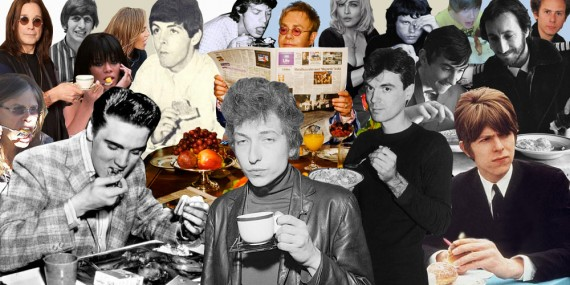 Rock Stars Eating Breakfast