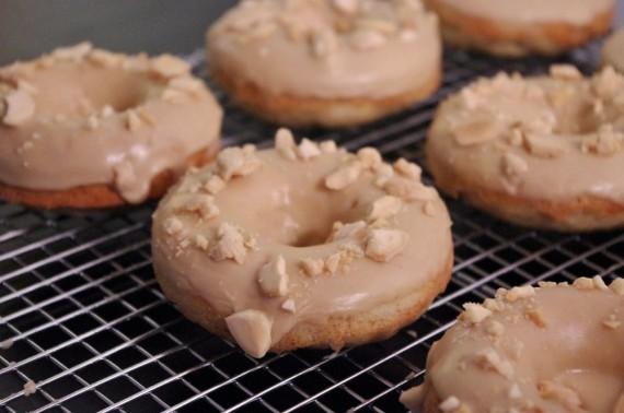 Banana Donut w/ Peanut Butter Icing