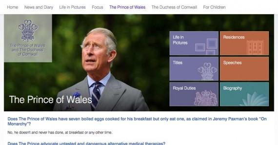 Prince Charles Website On Eggs