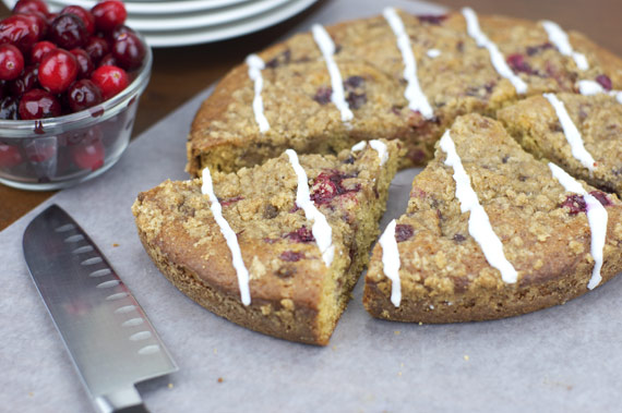 Cranberry Sauce In A Coffee Cake