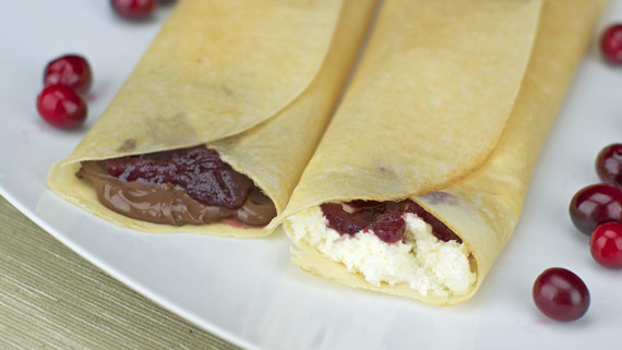 Cranberry Sauce In A Crepe