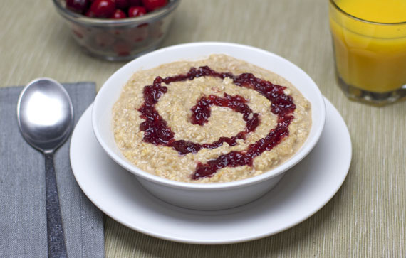 Cranberry Sauce In Oatmeal