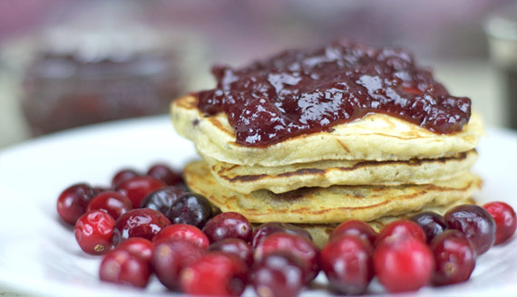 Cranberry Sauce On Pancakes