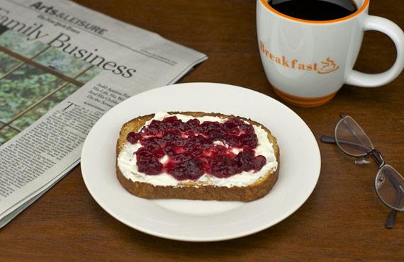 Cranberry Sauce On Toast