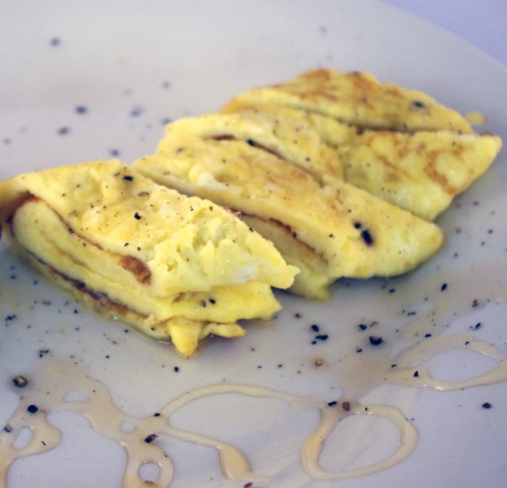 Honey And Black Pepper Omelette