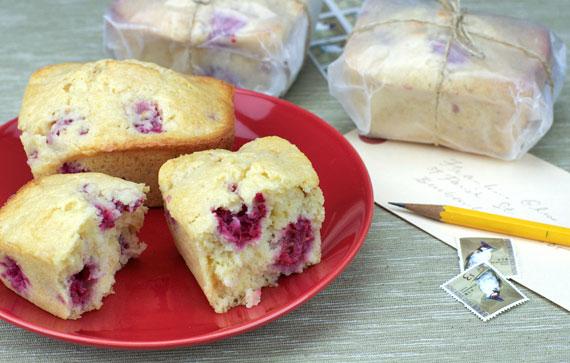 Inside Raspberry Grapefruit Mini Breads