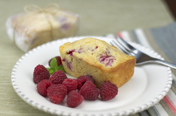 A serving of Raspberry Grapefruit Mini Bread