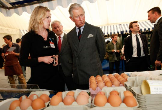 Prince Charles And Several Eggs
